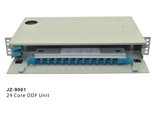"24 Core LC FC SC ST ODF Optical Distribution Frame rack mount 19"" Fiber Optic Management Unit  JZ-9001"