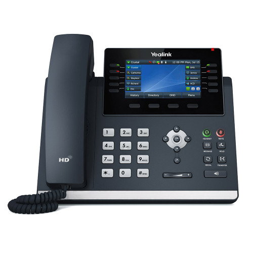 Yealink SIP-T46U GiG IP Phone with Dual USB Ports and 4.3″ Colour LCD (SIP-T46U)