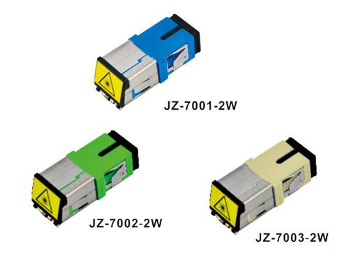 SC/APC LC ST SX FTTH Fiber Optic Connector Simplex Duplex Fiber Optic Adapter w/ metal cap (JZ-7001-2W)