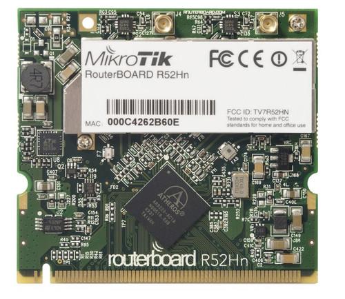 MikroTik R52Hn 802.11a/b/g/n High Power MiniPCI card with MMCX connectors