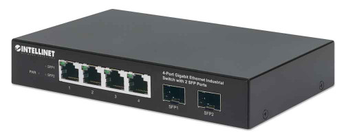 Intellinet 508247 4-Port Gigabit Ethernet Industrial Switch with 2 SFP Ports
