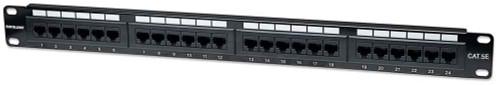 Intellinet 513555 24-Port Cat5e Patch Panel, UTP, 1U