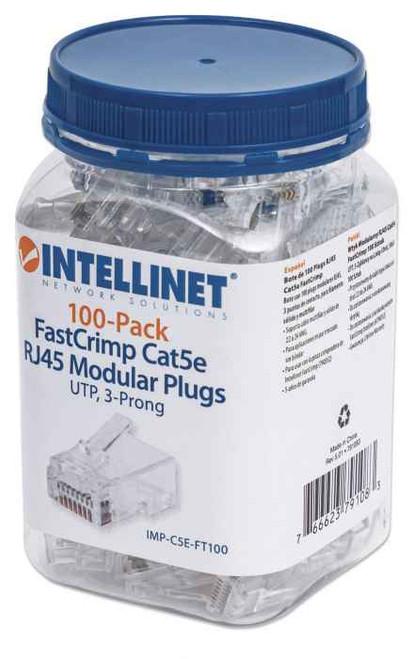 Intellinet 791083 100-Pack FastCrimp Cat5e RJ45 Modular Plugs