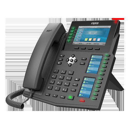Fanvil X6U SIP accounts 5 line High-end IP Phone 3 LCDs (Main + DSS) Gigabit PoE Bluetooth