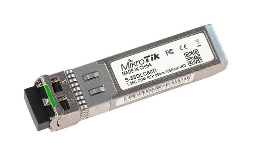 MikroTik S-55DLC80D SFP 1.25G module for 80km links with Dual LC-connector
