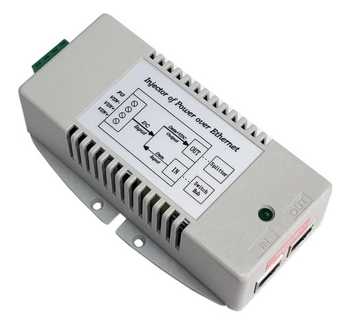 Tycon Systems 9-36VIn,24V 24W Gigabit Passive 4pair PoE,DCDC PoE Inserter