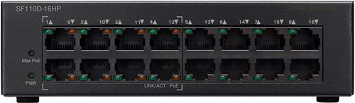 Cisco SF110D-16HP Unmanaged Switch 16 Ports 10/100 PoE