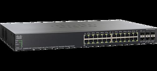 Cisco SG500X-24P-K9-NA 24-Port PoE Gigabit Ethernet Switch with 10 Gigabit Uplinks