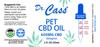 600mg CBD Pet Tincture label.
