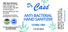 125mg CBD Anti-Bacterial Hand Sanitizer label.