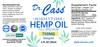 750mg Hemp Oil CBD Night-time Tincture label.