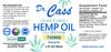 750mg Hemp Oil CBD Daytime Tincture label.