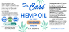 1500 Hemp Oil THC Free CBD Tincture with Beta Caryophyllene label.