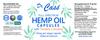 Hemp Oil Turmeric and Melatonin CBD Vegan Capsule Combo Label.