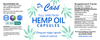 Hemp Oil Full Spectrum Everyday Capsules Label.