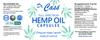 Hemp Oil Full Spectrum CBD Everyday Vega Capsules Label 30 Count.