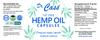 Hemp Oil THC Free CBD Everyday Vegan Capsules Label 30 Count.