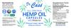 Hemp Oil Full Spectrum Melatonin Capsules Label.
