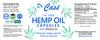 Hemp Oil THC Free Melatonin Capsules Label.