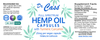 Hemp Oil Full Spectrum Turmeric Capsules label.