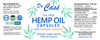 Hemp Oil THC Free Turmeric Capsules label.