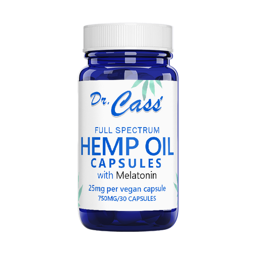 Hemp Oil Full Spectrum Melatonin Capsules.