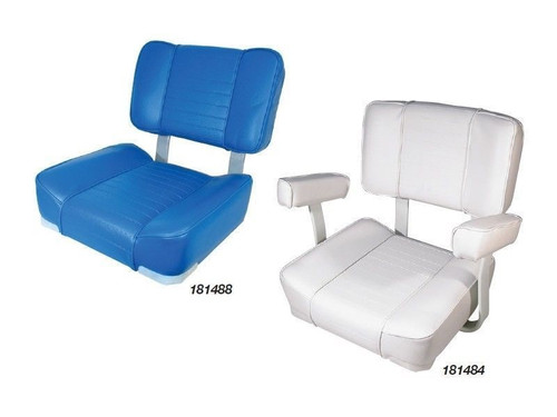 BLA SEAT DELUXE UPHOLSTERED WHITE NO ARMS 181484