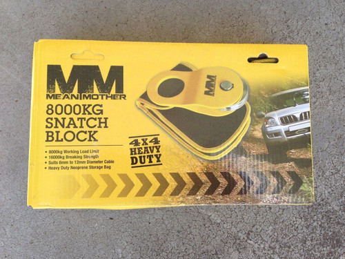 Mean Mother Snatch block 8T capacity heavy duty storage bag MMSB8T 4x4 Recovery*