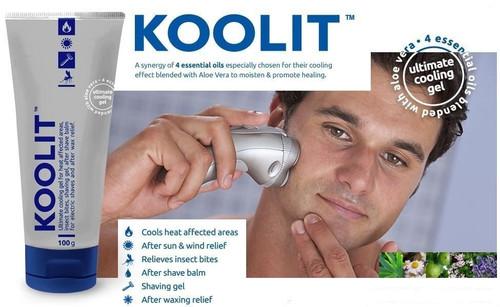 KOOLIT Ultimate Cooling Shaving Gel 250 mL Unisex Queensland Midge Mosquitos
