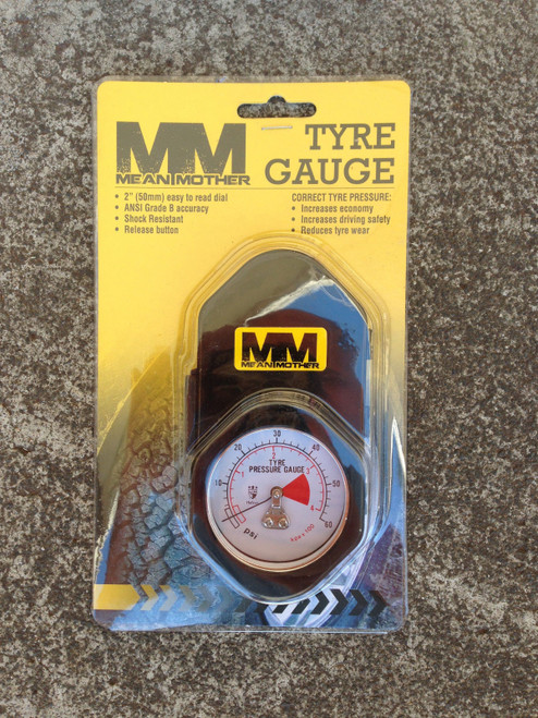 "Mean Mother Tyre Gauge 2""Dial 0-60 psi ANSI grade B accuracy AIR GAUGE MMTG60 **"