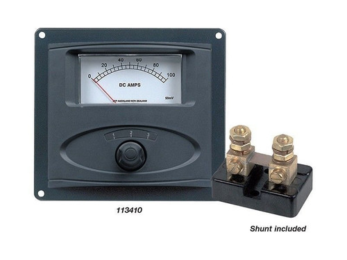 MARINCO AMMETER PANEL ANALOG 0-100AMP 113414