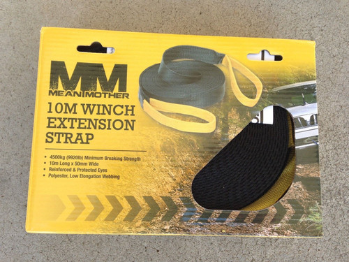 Mean Mother 10M Winch Extension Strap 4500KG Rated MMW10 Winch Straps Webbing