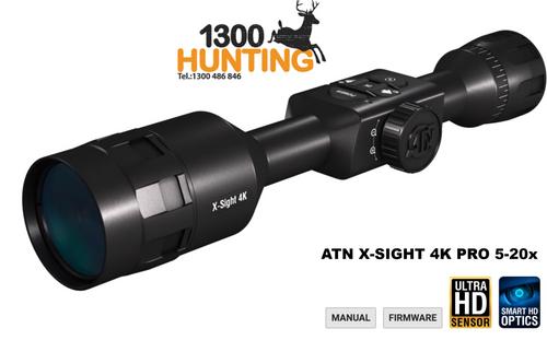 ATN X-SIGHT 4K PRO 5-20X  SMART  DAY/NIGHT ULTRA HD RIFLE SCOPE - DGWSXS5204KP