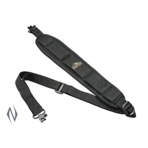 BUTLER CREEK COMFORT STRETCH BLACK RIFLE SLING + SWIVELS - BC81013