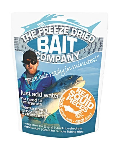 The Freeze Dried Bait Company Real Squid Pieces 300g ***