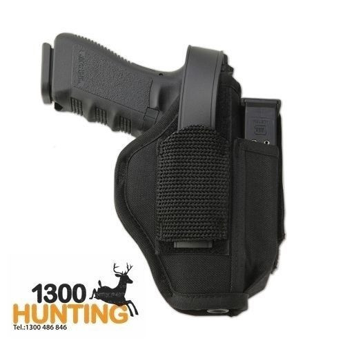 "UNCLE MIKE'S AMBIDEXTEROUS HIP HOLSTER W/ MAGAZINE HOLDER #02 FITS 3-4"" UM70020"