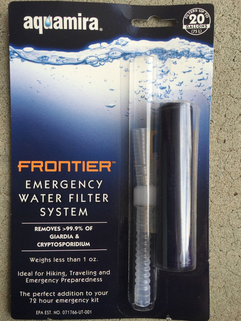 Aquamira Frontier Emergency Water Filter System M42105 Survival Water filter ***