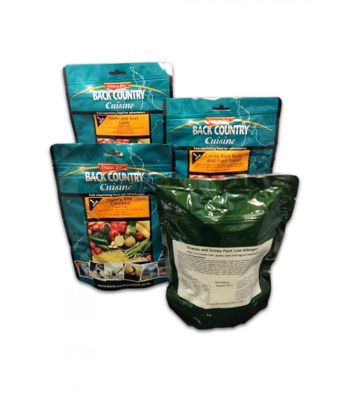 Back Country Cuisine One Day Ration Packs - No Worries
