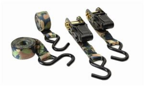 CAMOUFAGE RATCHET TIE DOWN-4PK - HME-RS-4PK