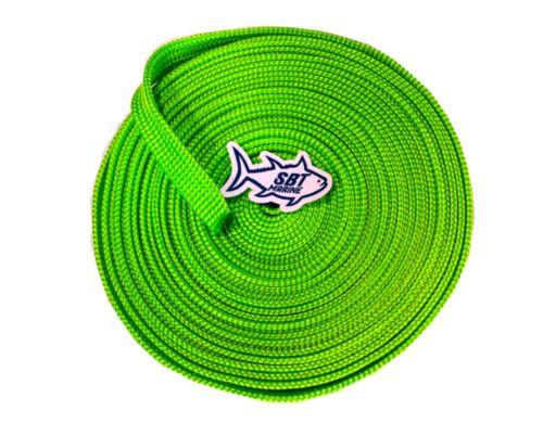 SBT MARINE ANCHOR CHAIN SOCK SLEEVING 6MM SHORT LINK CHAIN 12 MTRS FLURO GREEN