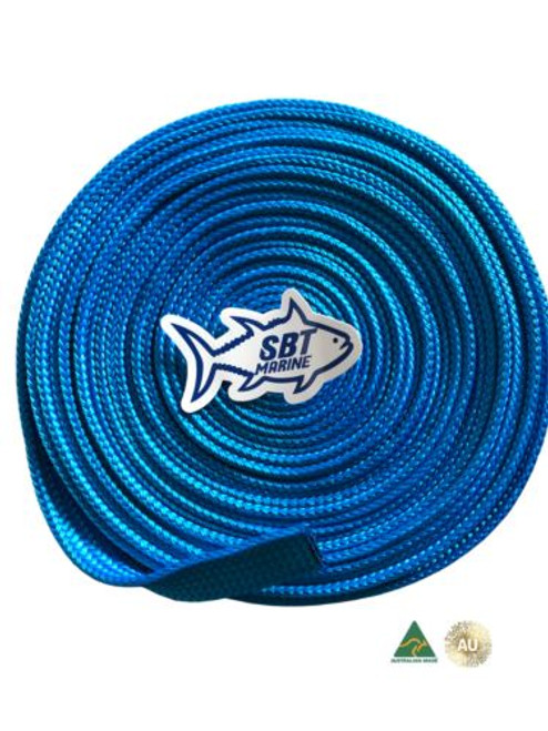 SBT MARINE ANCHOR CHAIN SOCK SLEEVING 6MM SHORT LINK CHAIN 8 MTRS  30mm BLUE