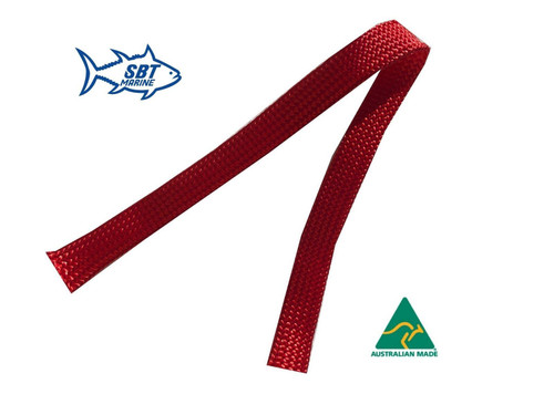 SBT MARINE ANCHOR CHAIN SOCK SLEEVING 6MM SHORT LINK CHAIN PER METRE 30mm RED