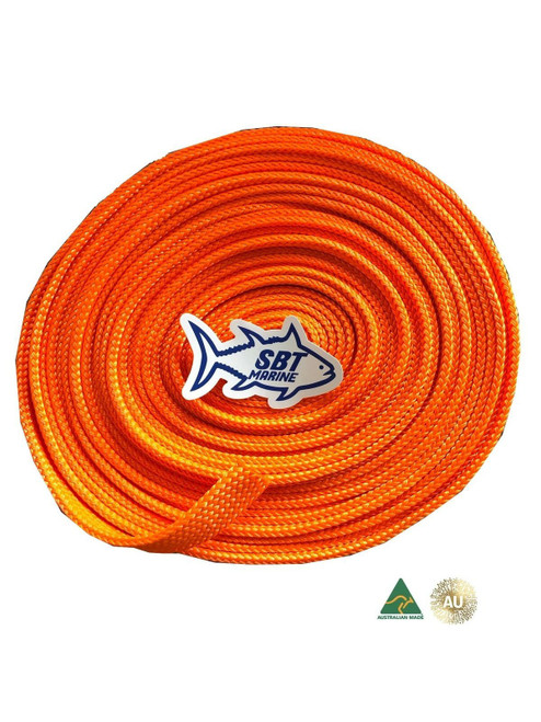 SBT MARINE ANCHOR CHAIN SOCK SLEEVING 6MM SHORT LINK CHAIN PER METRE 30mm Orange