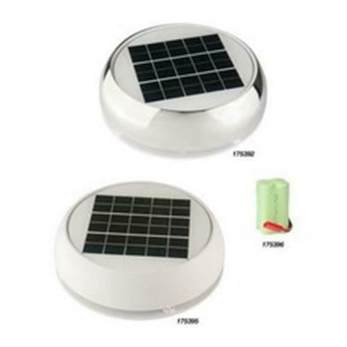 """MARINCO  3"""" DAY/NIGHT SOLAR VENT STAINLESS STEEL 175392"""