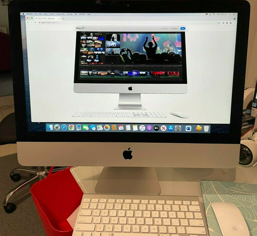 """Apple iMac 21.5"""" Desktop - Late  2012 500GB NEW SSD MAC OS CATALINA 8GB Intel i5"""