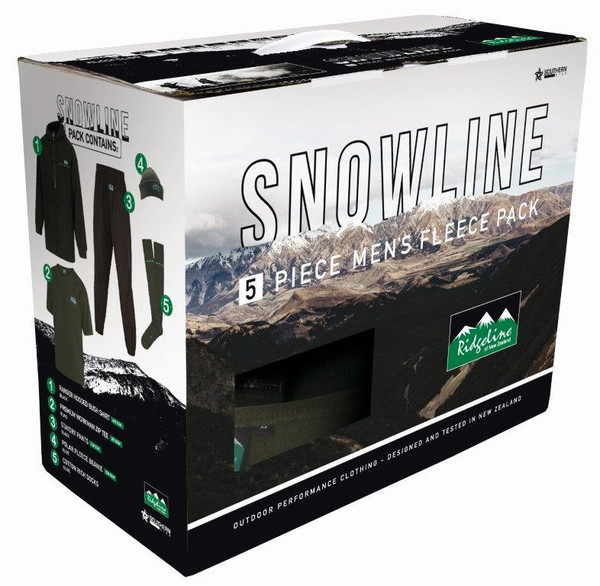 RIDGELINE MENS SNOWLINE PACK BLACK/ OLIVE L - RLCCPSLBO