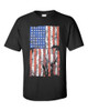 USA Flag Distress Black T Shirt