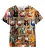 Vivid Allover Print Guitar Collage Guitar T Shirt