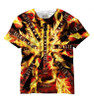 Vivid Allover Print Blazing Electric Guitar Mens Guitar T Shirt