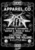 "G.A.A. Apparel Co. Guitar T Shirt Brand ""Raising the Volume & Little Hell"", guitar t shirt"
